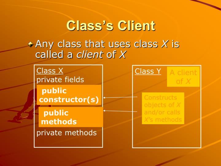 Class's Client