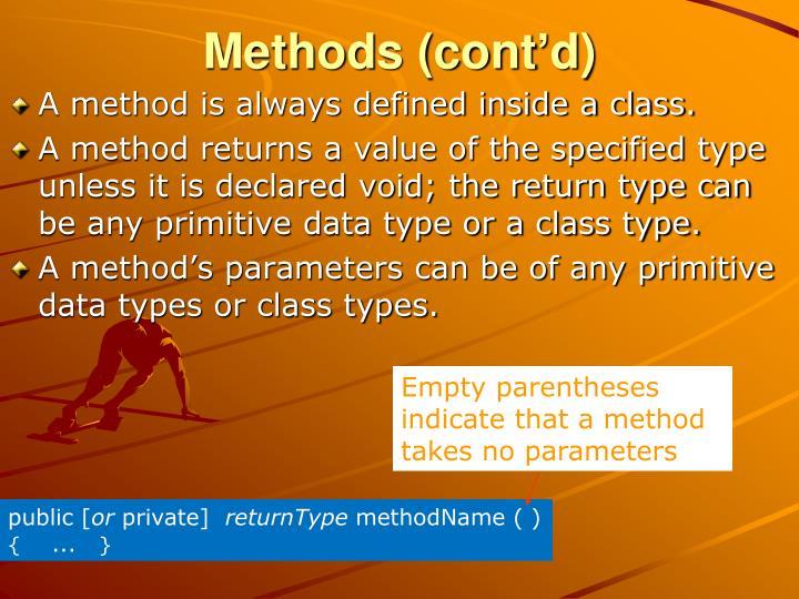 Methods (cont'd)