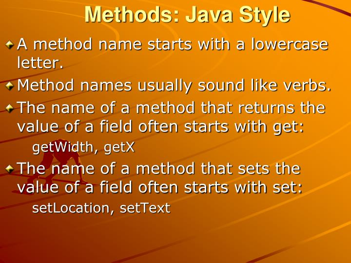 Methods: Java Style