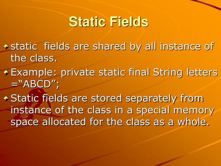 Static Fields