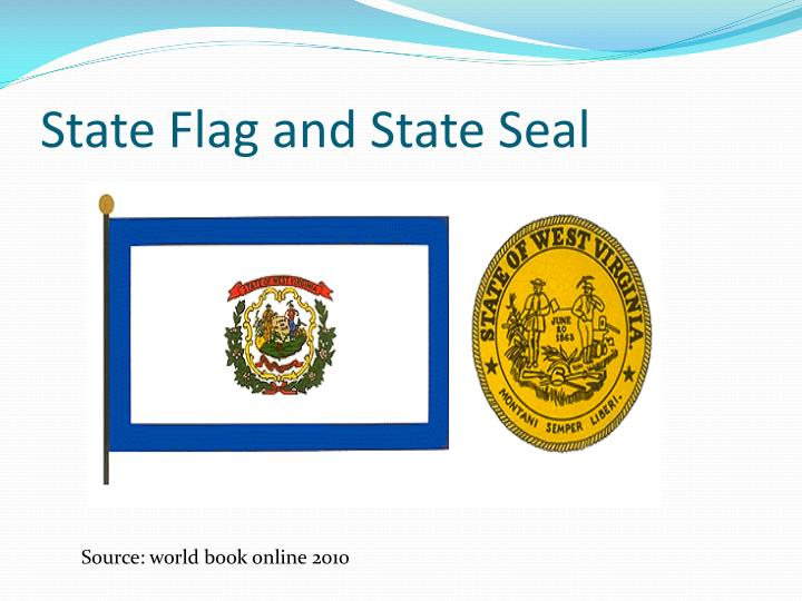 State flag and state seal