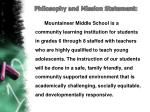 philosophy and mission statement