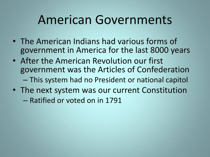 American Governments