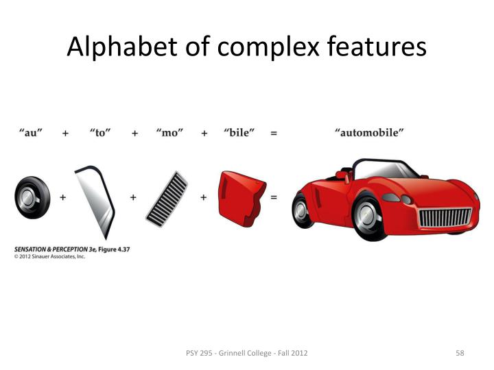 Alphabet of complex features