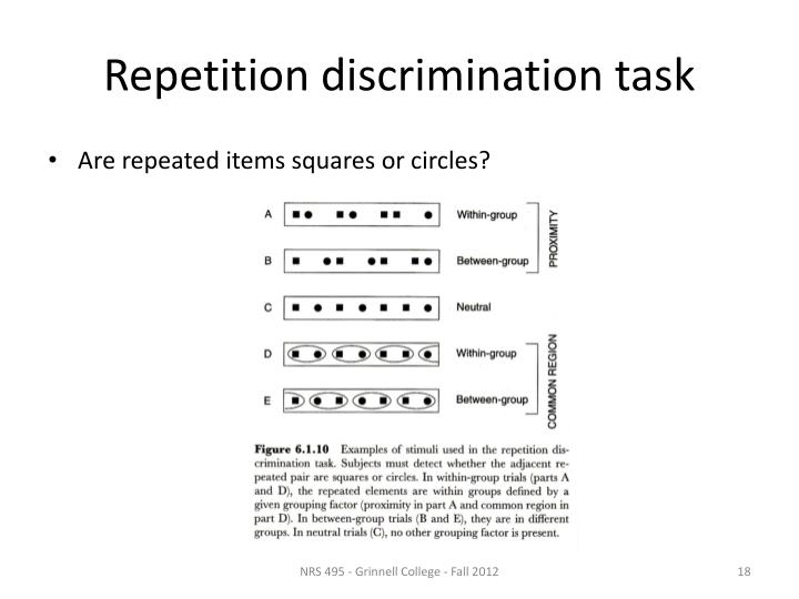 Repetition discrimination task