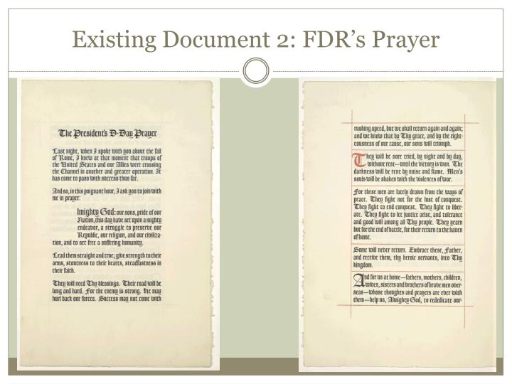 Existing document 2 fdr s prayer