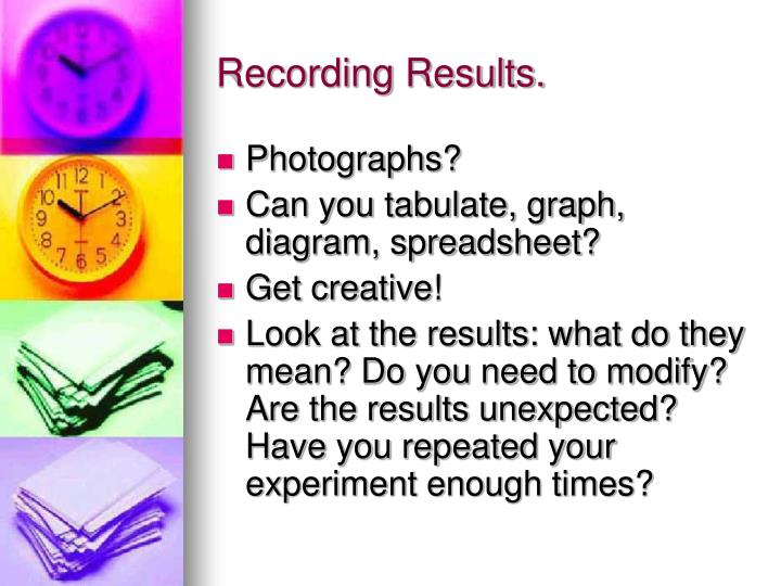 Recording Results.
