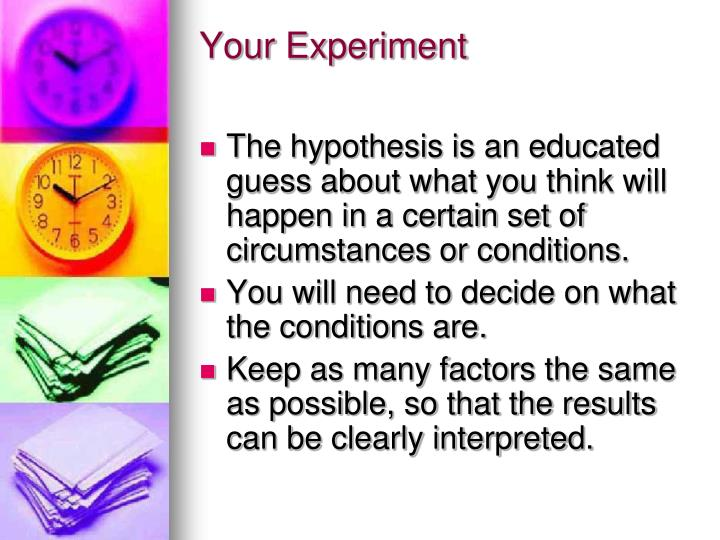 Your Experiment
