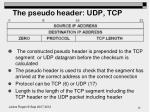the pseudo header udp tcp