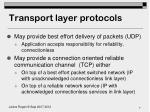transport layer protocols1
