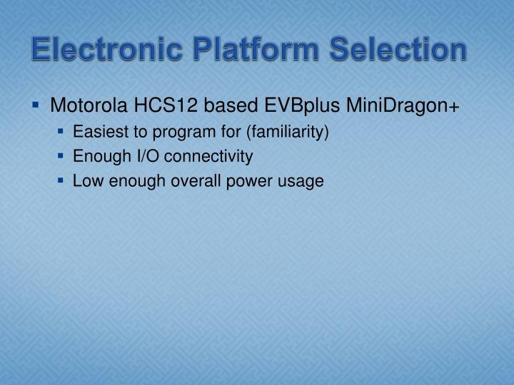 Electronic Platform Selection