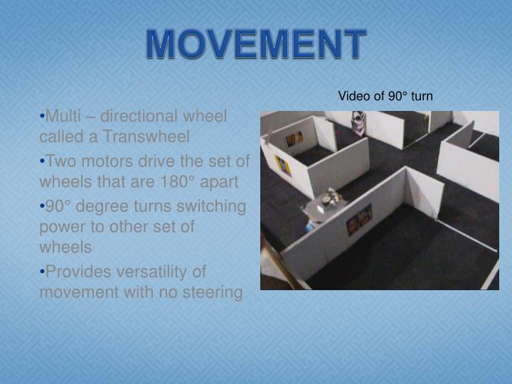 Video of 90° turn