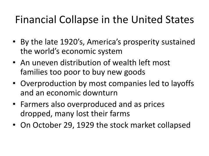 Financial Collapse in the United States
