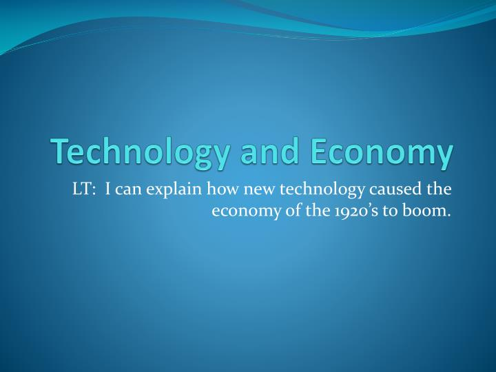 technology and economy n.