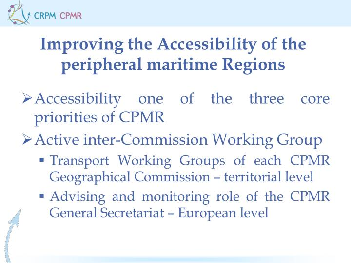 Improving the accessibility of the peripheral maritime regions