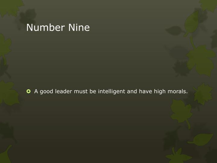 Number Nine