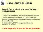 case study 3 spain