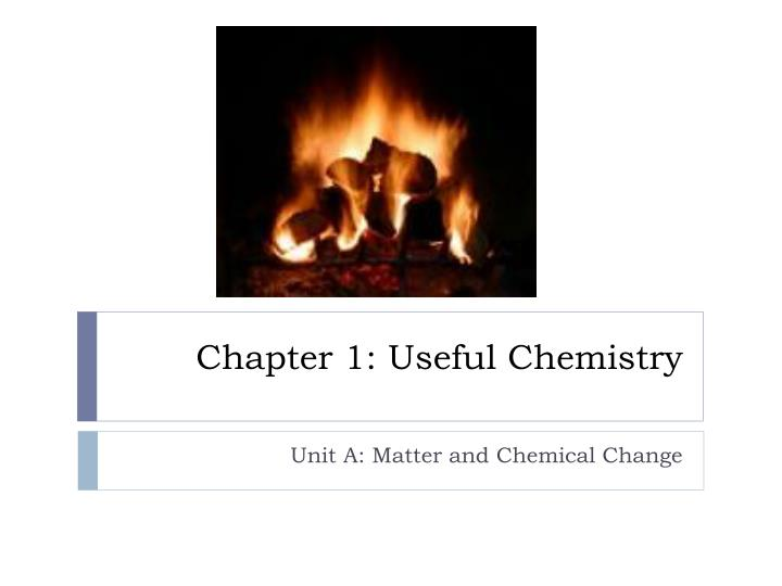 chapter 1 useful chemistry n.