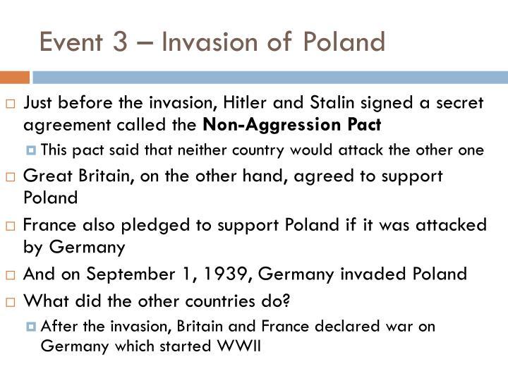 Event 3 – Invasion of Poland