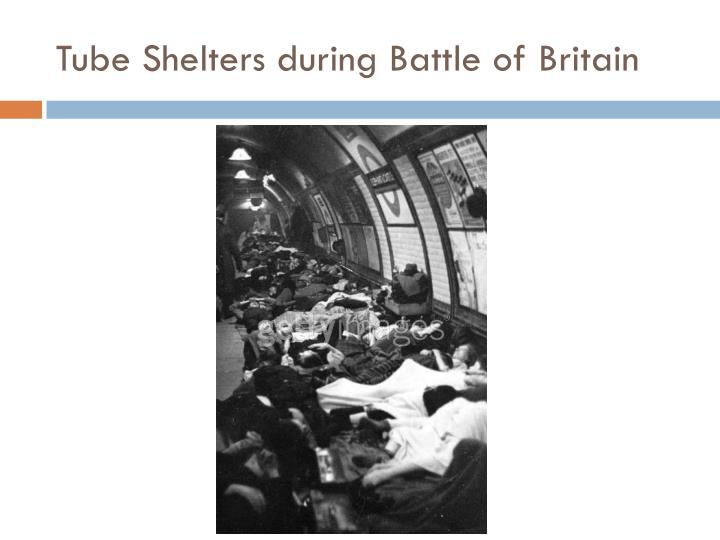 Tube Shelters during Battle of Britain