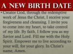 a new birth date