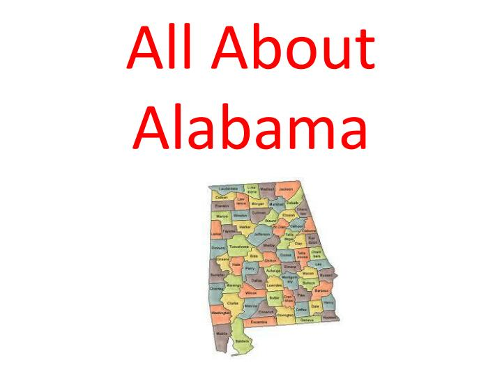 all about alabama n.