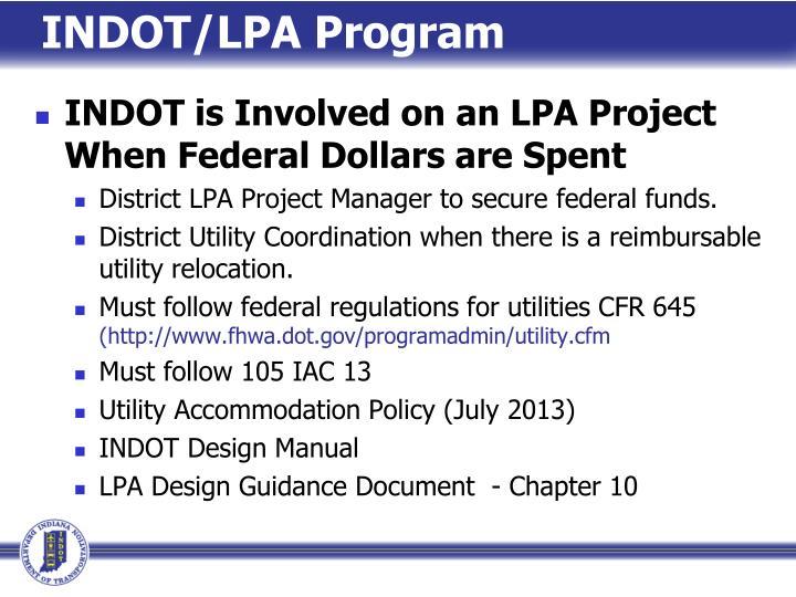 INDOT/LPA Program