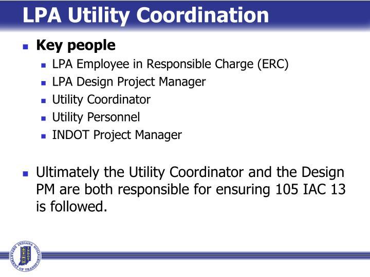 LPA Utility Coordination