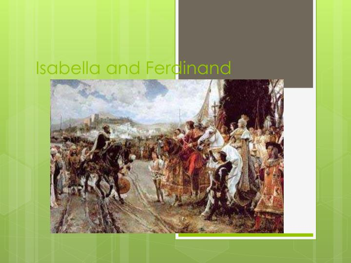 Isabella and ferdinand