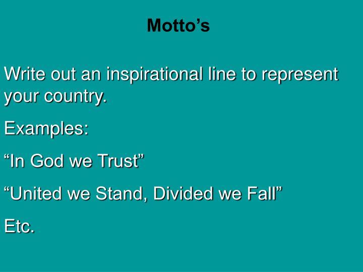 Motto's