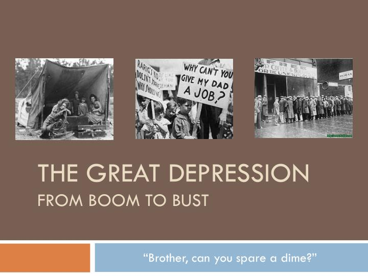the great depression from boom to bust n.