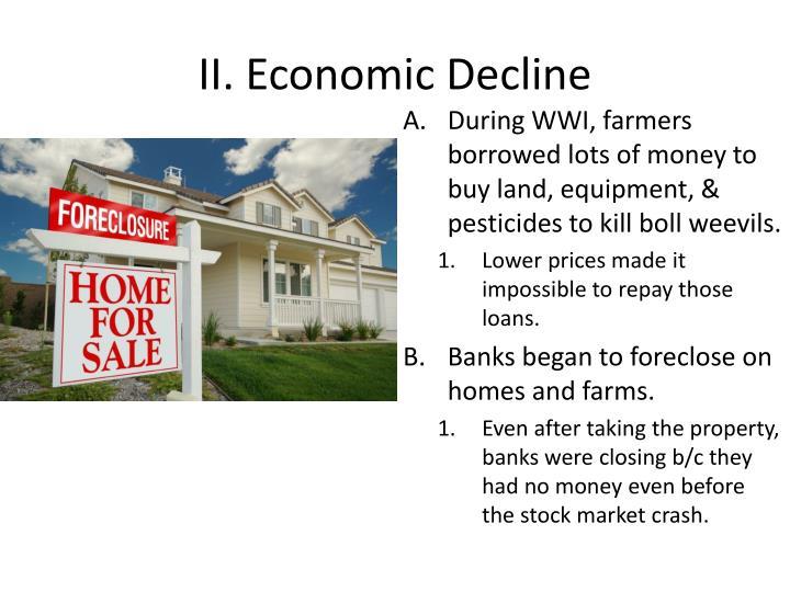 Ii economic decline