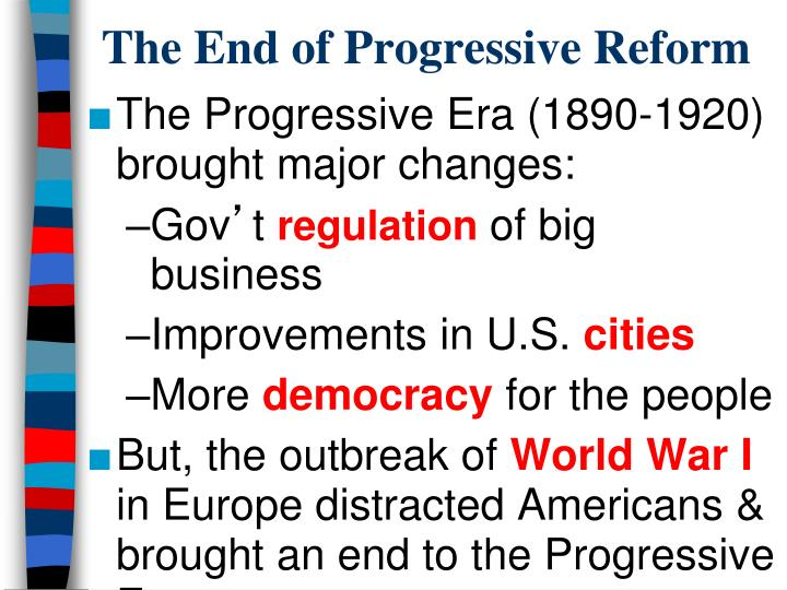 The End of Progressive Reform