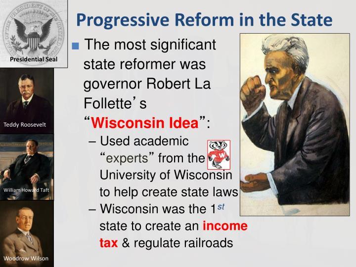 Progressive Reform in the State