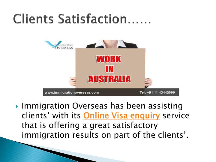 Clients satisfaction