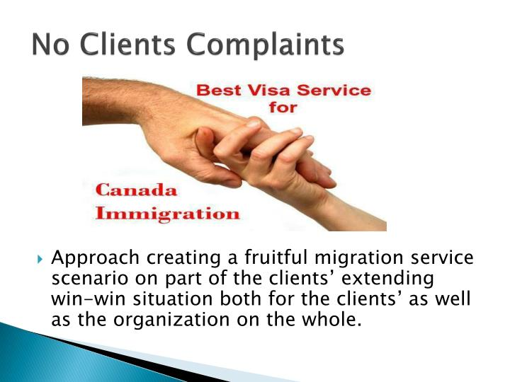 No clients complaints