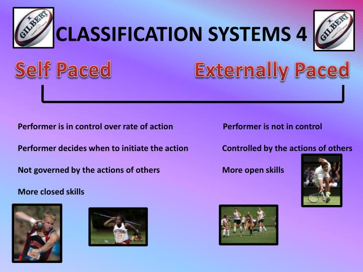 CLASSIFICATION SYSTEMS 4