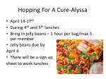 hopping for a cure alyssa