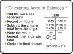 calculating account balances