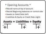 opening accounts