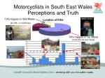 motorcyclists in south east wales