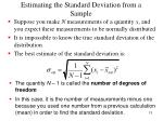 estimating the standard deviation from a sample