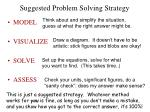 suggested problem solving strategy