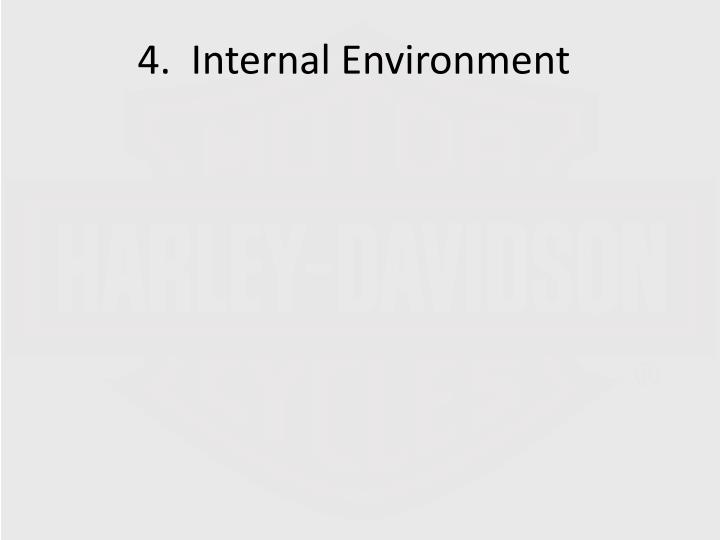 4.  Internal Environment