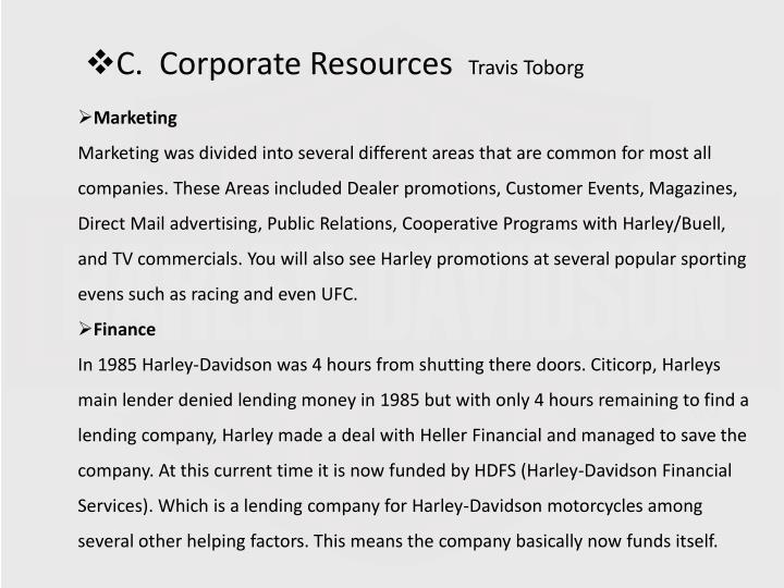 C.  Corporate Resources