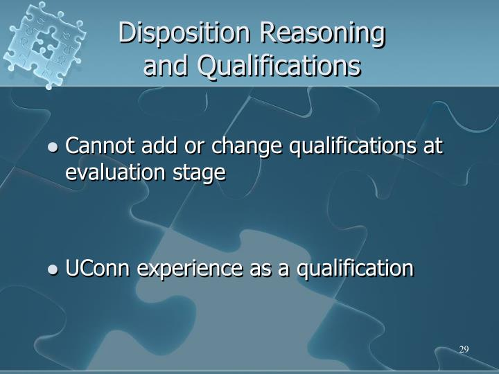 Disposition Reasoning