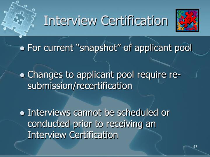 Interview Certification