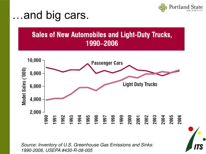 …and big cars.