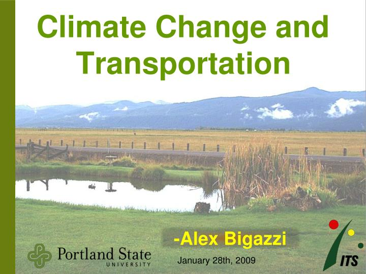 Climate change and transportation