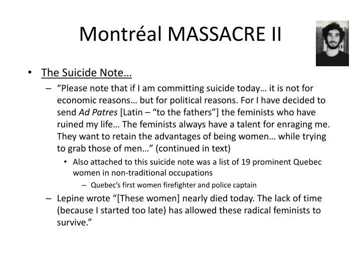 Montr al massacre ii